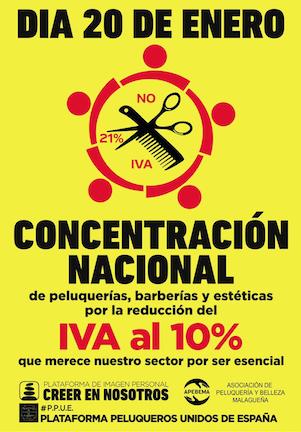 Manifestacion por la bajada del IVA